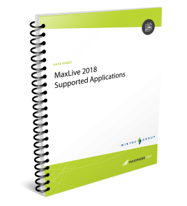 MaxLive2018-supported-apps