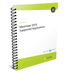Maximizer-2019-supported-apps